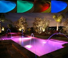 éclairage à led pour piscine